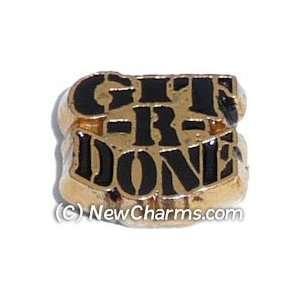 Git R Done Floating Locket Charm Jewelry
