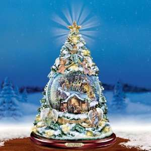 Thomas Kinkade Silent Night Nativity Christmas Tree