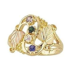 Yellow gold Black Hills Gold Mothers/Family Rings 2 6 Stones: Jewelry