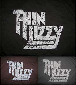 NEW* Thin Lizzy Classic Rock T Shirt w/ worn out look