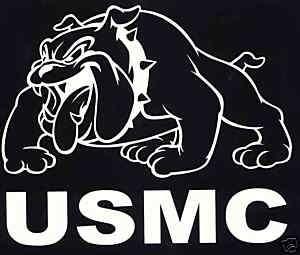 USMC Marine Corps Bulldog Semper Fi Decal BDB