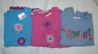 Cute Lot of 3 Girls Hanna Andersson L/S Tops Shirt sz 110 Spring Play