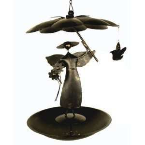 Hanging Garden Angel Bird Seed Feeder Flat Bottom Home