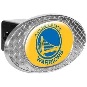 Sports NBA WARRIORS Metal Diamond Plate Trailer Hitch