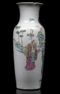 QUALITY antique Chinese porcelain Vase Deer & Figures TONGZHI MARK
