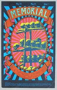 GRATEFUL DEAD Memorial Day Poster, 1968, Carousel Ballroom. 2nd