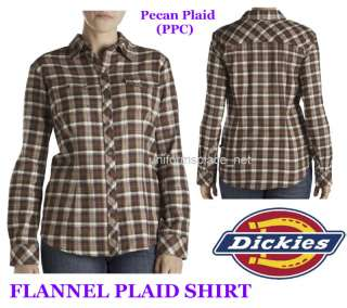 Dickies Women Lady FLANNEL PLAID Shirt Top PPC XS   2XL