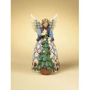 Jim Shore   Heartwood Creek   Angel with Christmas Tree by Enesco