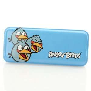 Licensed Angry Birds Tin Pencil Case Blue Bird Toys & Games