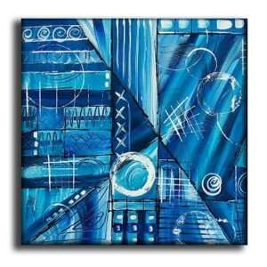 Blue Blunder Hand Painted Canvas Art Oil Painting