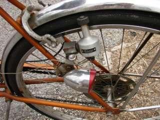 Gold Frame Bicycle Bike 20 Original Factory Front Back Light