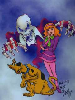 SCOOBY DOO WITH DAPHNE COOL SIGNED TRIBUTE PRINT W COA