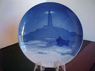 1924 BING & GRONDAHL CHRISTMAS PLATE LIGHTHOUSE