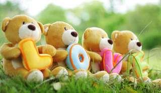 Christmas Gift 4 plush Teddy Bears LOVE 12H each