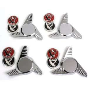 Fluted Spinners La Wire Wheel Chrome Center Caps Bolt On Automotive
