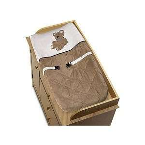 Chocolate Teddy Bear Boys Changing Pad Cover Baby