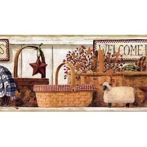 Country Baskets Wallpaper Border: Home Improvement
