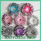 Infant baby girl 5pcs Zebra cheetah daisy flowers for clip hair
