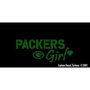 Green Bay Packers Girl Car Window Decal Sticker Green 8