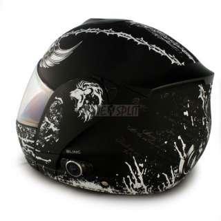Vcan BLINC 210 Flip Face Modular Bluetooth Helmet (CRUSADER, Large)