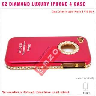 Rhinestone Crystal Diamond Bling Luxury Hard Case Cover for iPhone 4