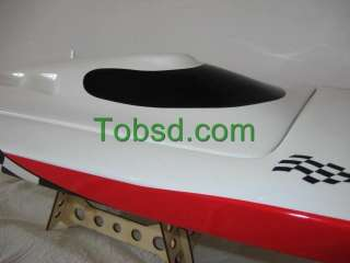 White Racing Fiberglass Brushless Electric RC Speed Boat