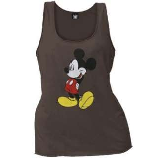 Mickey Mouse   Brown Ladies Tank Top Clothing