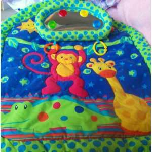 Giraffe, Monkey and Alligator Baby Play Mat with Mirror Toys & Games