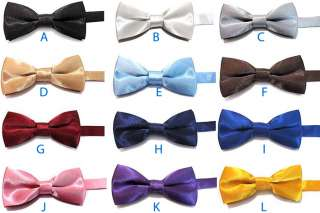 NEW FORMAL BOYS Tuxedo Solid BOWTIES SUIT BOW TIE