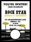 Boys Rock Star w/ Drum Set Zebra Print Birthday Party I