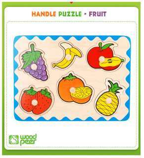 Childrens Baby Puzzle Wooden Toy Handle Jigsaw Puzzle Educational Toy