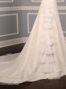 Diamond White English Net Strapless Couture Wedding Dress Gown