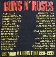GUNS N ROSES Vintage Concert SHIRT 90s TOUR T RARE ORIGINAL 1991
