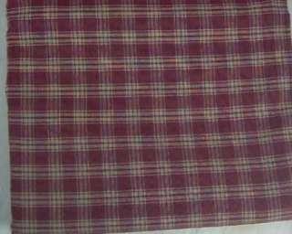Country Wine Tan Plaid Sturbridge Cotton Table Cloth 60x84