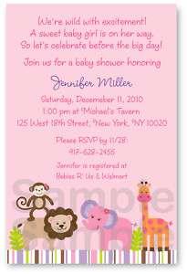 Bubble Gum Jungle Baby Shower Invitation Printable