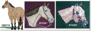 BUCKSKIN horse embroidered denim shirt XS XL