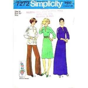 Pattern Womens Nehru Dress Top Caftan Size 14 Bust 36: Arts, Crafts
