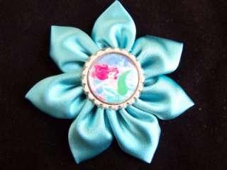 LITTLE MERMAID bOuTiQuE FLOWER Clip Headband Hair Bow  Aqua