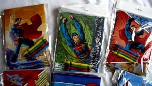 Wholesale Lot of 24 Superman Coloring Book with crayons sets.