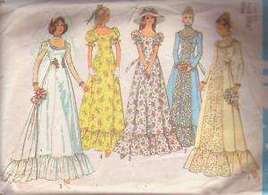 1975 pattern VICTORIAN LOOK WEDDING DRESS/GOWN train ~ size 10 (32½