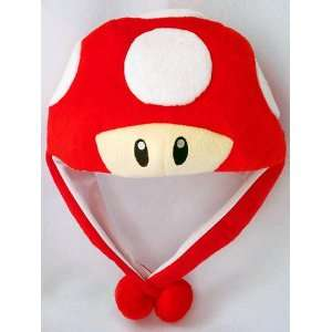 Mario Bro Red Mushroom Aviator Costume Hat Toys & Games