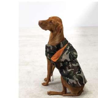 DOGS CLOTHING GREEN CAMO DOG Rain Coat Jacket hood *XS