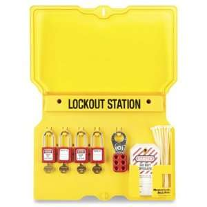 Lockout/Tagout Wall Mount Station   4 Lock Home Improvement