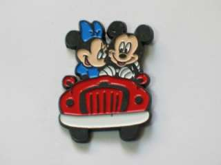 Mickey Mouse and Minnie Mouse Driving Car Collector Pin Badge