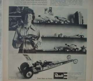 REVELL DRAGSTERS FUNNY CARS 1/16 SCALE ORIGINAL AD 73*