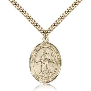 Genuine IceCarats Designer Jewelry Gift Gold Filled St. Isidore The