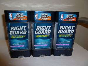 RIGHT GUARD SPORT CLEAR GEL DEODORANT, ACTIVE, 10 PIECES