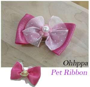 Pet Dog Cat Ribbon Hair Bow Grooming Band ★ New ★B301W