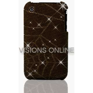 Visions Slim Iphone Hard Case Back Cover Spider Web Glitter Pattern