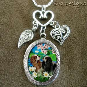 CAVALIER KING CHARLES SPANIEL DOG SILVER CHARM NECKLACE